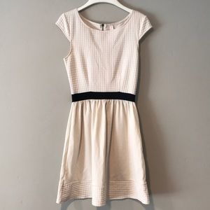 Cream Textured Dress